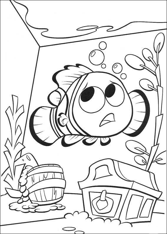 Disegni da colorare per bambini. Colorare e stampa Alla ricerca di Nemo 32
