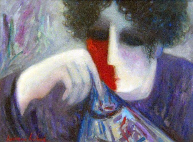 Alegra 1997 by Barbara Wood, Original Painting, Oil on Canvas