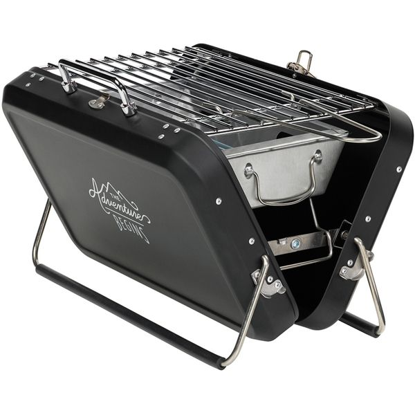 Gentlemen's Hardware Portable Suitcase Style Barbecue: Image 01