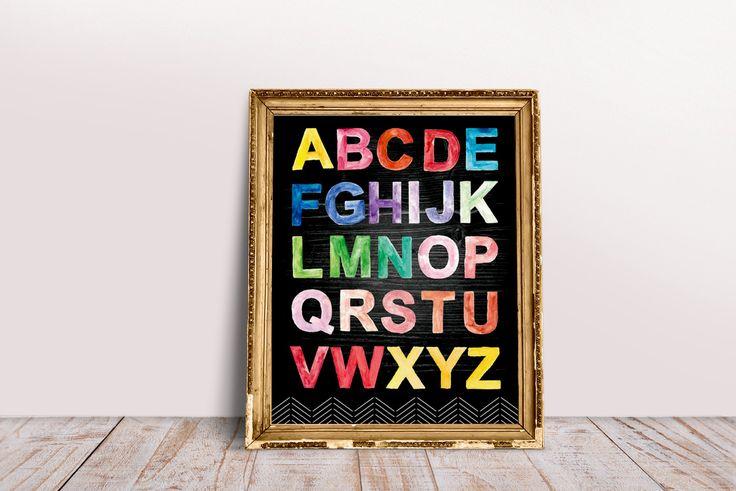 Black Wood Grain Rustic Alphabet Art 16 X 20 Print by OrangePeelPaperie on Etsy