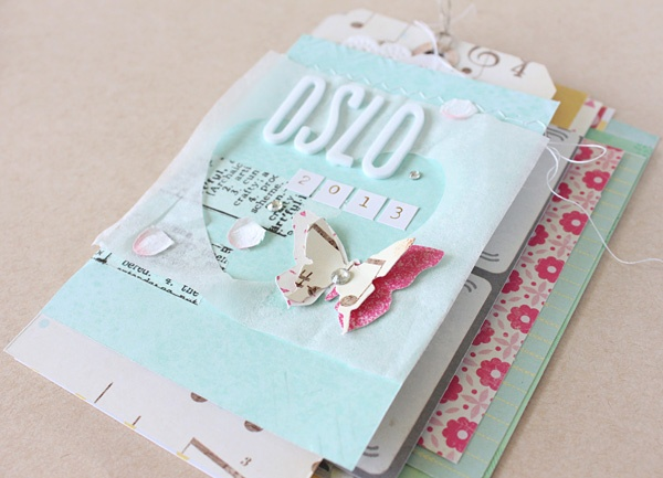 Crafting ideas from Sizzix UK: Mini album with washi tape binding by Janna Werner.