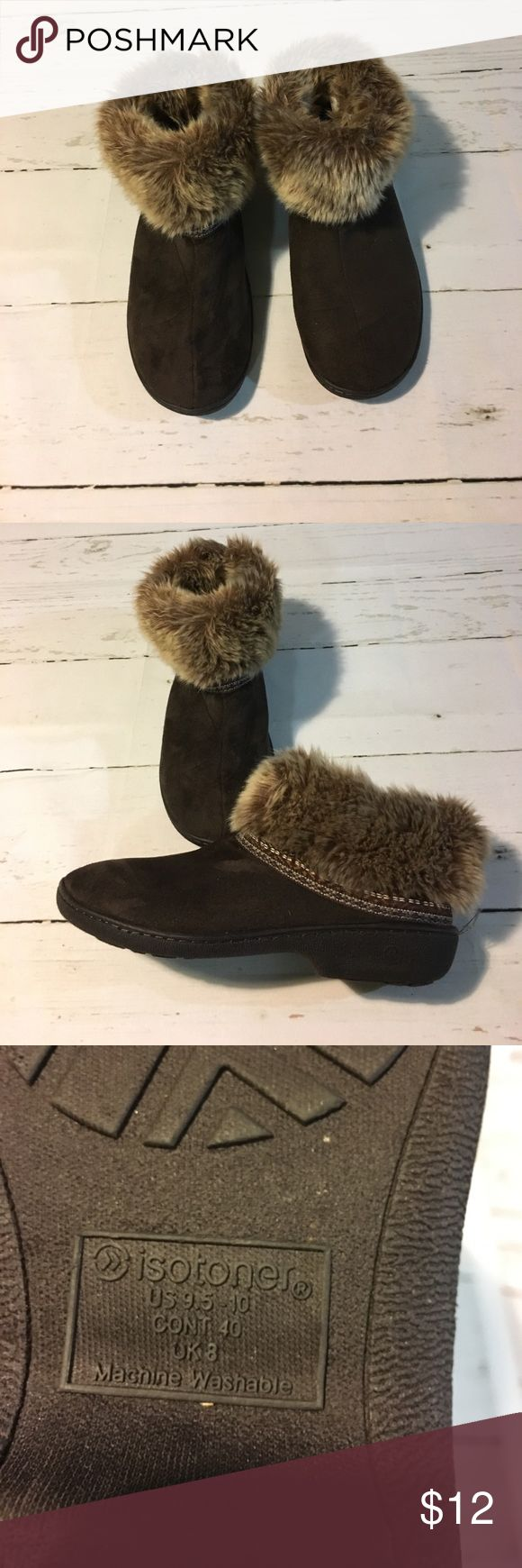 Isotoner Slippers Brown Slippers by Isotoner. Gently used in great condition Isotoner Shoes Slippers
