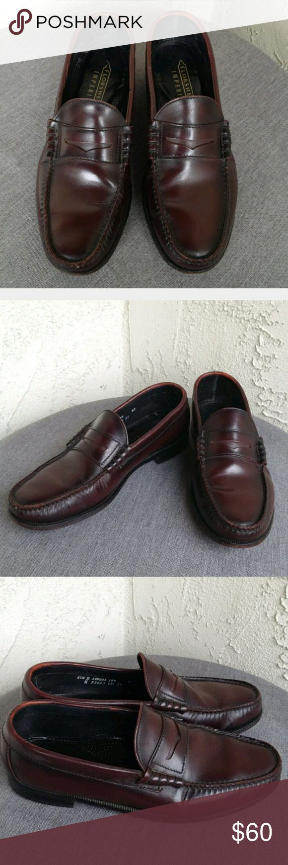 Florsheim Imperial Cordovan Dress Loafers 10.5 Florsheim Dress Shoes Mens Imperial Cordovan Leather Slip On Career Loafers 10.5 - Great preowned condition, minimal signs of wear....Enjoy!  Type: Shoes Style: Leather Dress Loafers Brand: Florsheim Size: 10.5 D / Medium Material: Leather Color: Cordovan Condition: Great Preowned Condition, minimal signs of wear  Country of Manufacturer: USA Stock Number: 0008 Florsheim Shoes Loafers & Slip-Ons