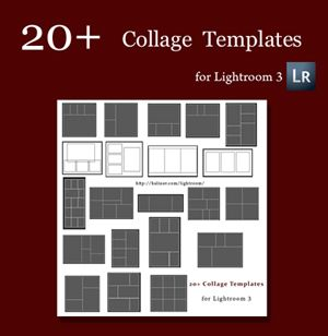 free collage templates for Lightroom!