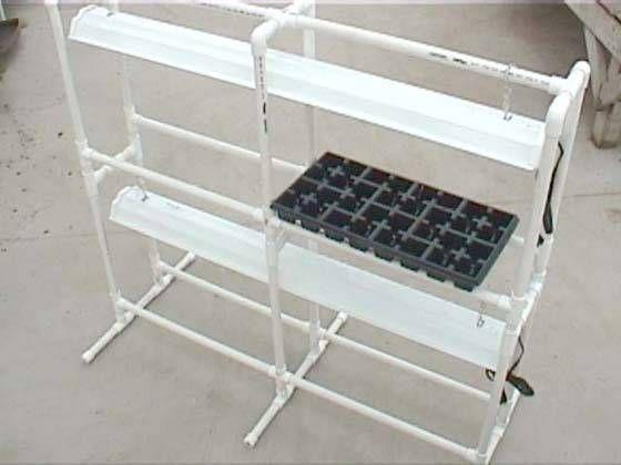 DIY Seed Starting Rack - PVC pipe