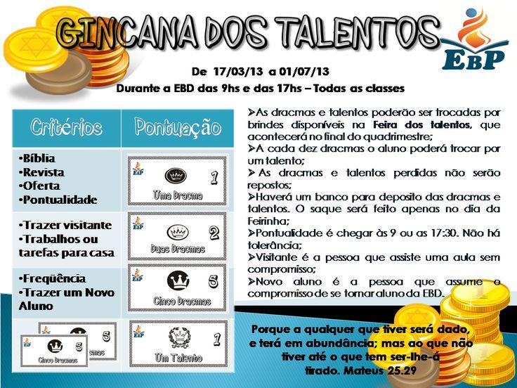 Plenitude Teen: Gincana dos Talentos - Campanha de incentivo à EBD