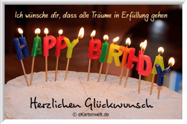 Ich wünsche dir, dass alle Träume in Erfüllung gehen... Herzlichen Glückwunsch! - ツ GeburtstagsBilder & Geburtstagsgrüße ツ