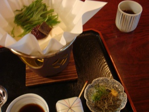 着物で嵐山(湯豆腐)