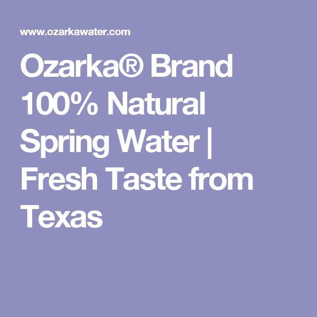 Ozarka® Brand 100% Natural Spring Water | Fresh Taste from Texas