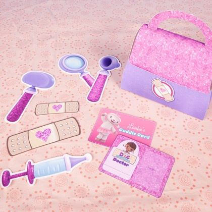 Your little one can diagnose at home with this Doc McStuffins' Doctor Kit from…