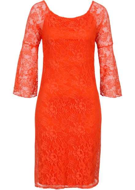 Robe Carmen en dentelle, BODYFLIRT, orange