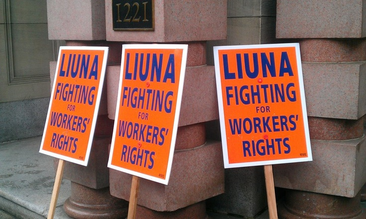 Fighting For Workers Rights - Credit: LIUNA Local Union 483