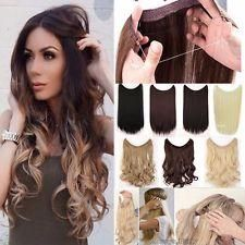 """20"""" Length Invisible Secret Hair Extensions. Get Longer, Thicker Hair INSTANTLY!! Double the Volume, Double the Color!! ONLY $29.99!!  Synthetic, Heat Resistant and Available in 5 Shades. Get Your Straight or Curly LOOK On TODAY!!"""