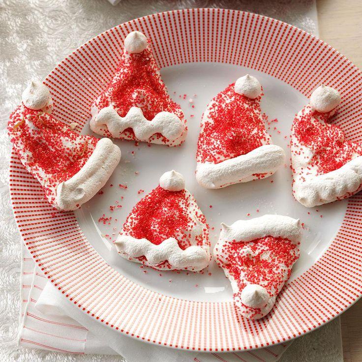 Meringue Santa Hats Recipe Best christmas cookie