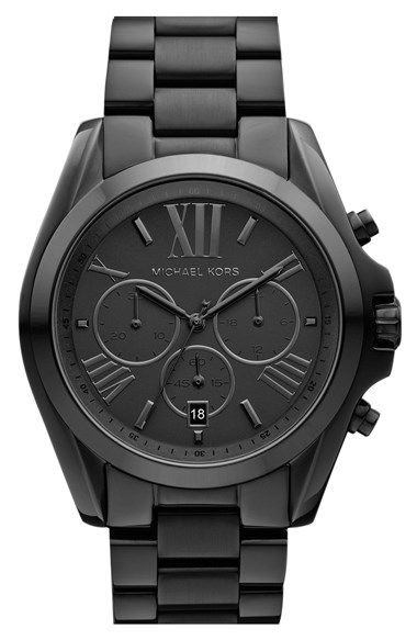 Free shipping and returns on MICHAEL Michael Kors Michael Kors 'Bradshaw' Chronograph Bracelet Watch, 43mm at Nordstrom.com. Roman numerals on a sunray dial give sophisticated style to a prominent watch forged in finely brushed steel.