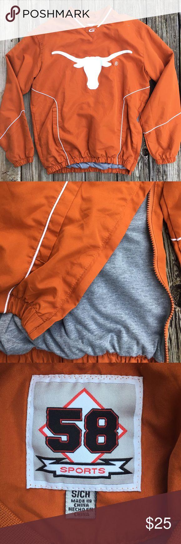 Long horn pullover University of Texas, UT! Men's size small. Inside lining is a t-shirt material. Side half zipper. Jackets & Coats