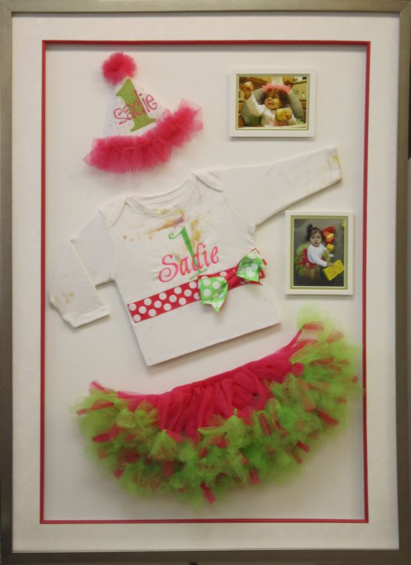 Custom designed shadow box made at Art and Frame Express in Edison NJ.