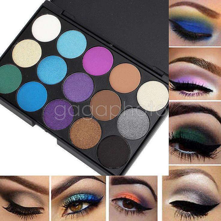 Womne's 15 Color Cosmetic Matte Eyeshadow Eye Shadow Makeup Palette Set Kit…
