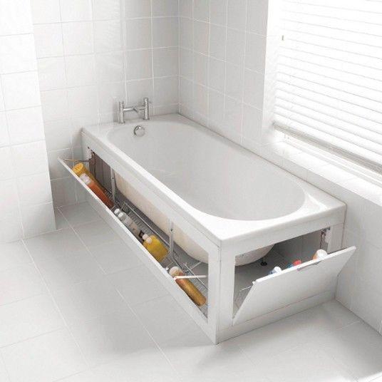 Storage Bath Panels provide handy storage to even the smallest bathroom.