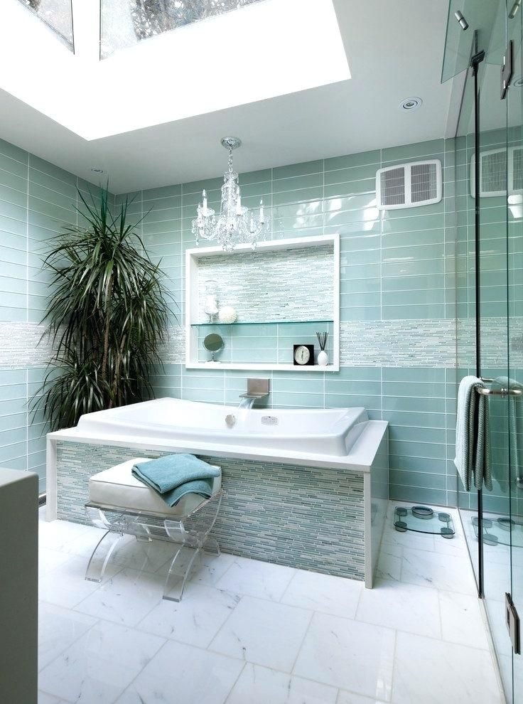 artistic bathroom glass tile accent ideas contemporary with bowl at