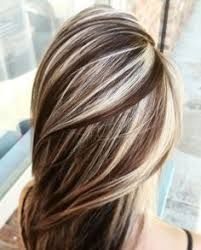 Image result for brown with platinum blonde highlights