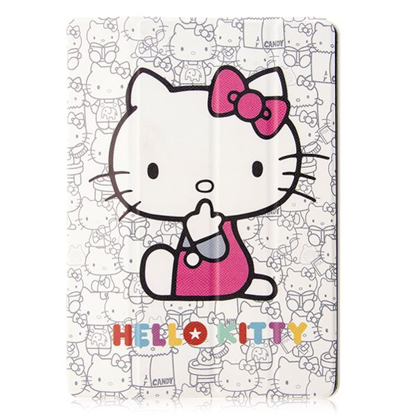 Hello Kitty iPad Air PU Foldable Stand Cover Case for iPad Air $9.90 #ipadair #hellokitty #hellokittycase #ipadcase #ipadcover #cellz.com #cute #cartoon #kidscase $9.90