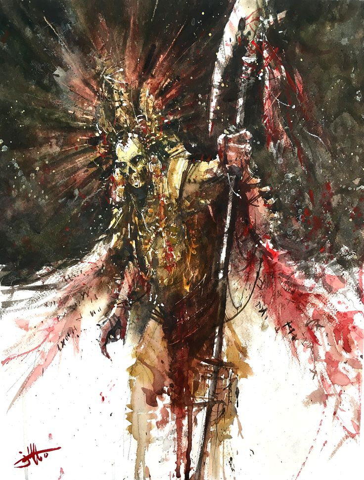 The Wingtaker, Judd Mercer, Watercolor. From the illustrated novel, All That Will Burn