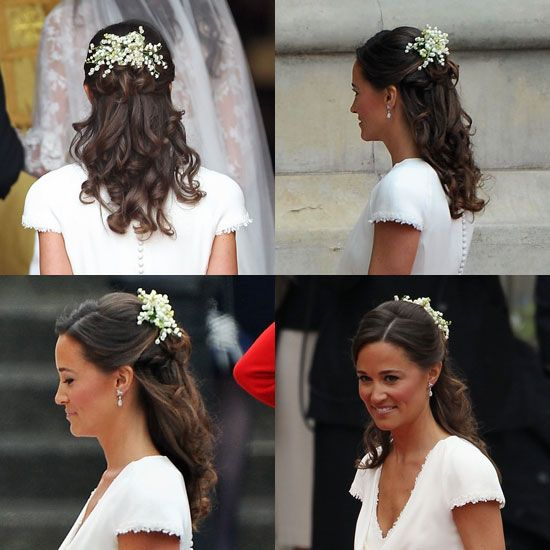 Gorgeous wedding hair- or pippa pretty hair?: Hair Ideas, Half Up, Hair Styles, Wedding Hairs, Royal Weddings, Pippamiddleton, Pippa Middleton, Bridesmaid Hairstyles, Hair Combs