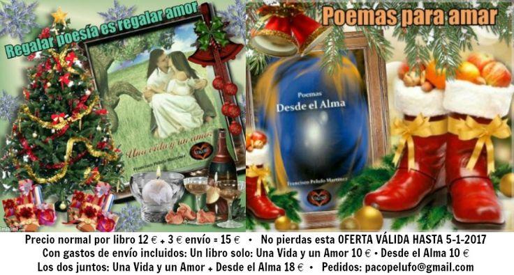 Oferta de mis libros para estas FIESTAS ¿TE LA VAS A PERDER? @KOKOROALMA @Esveritate #poeta #escritor