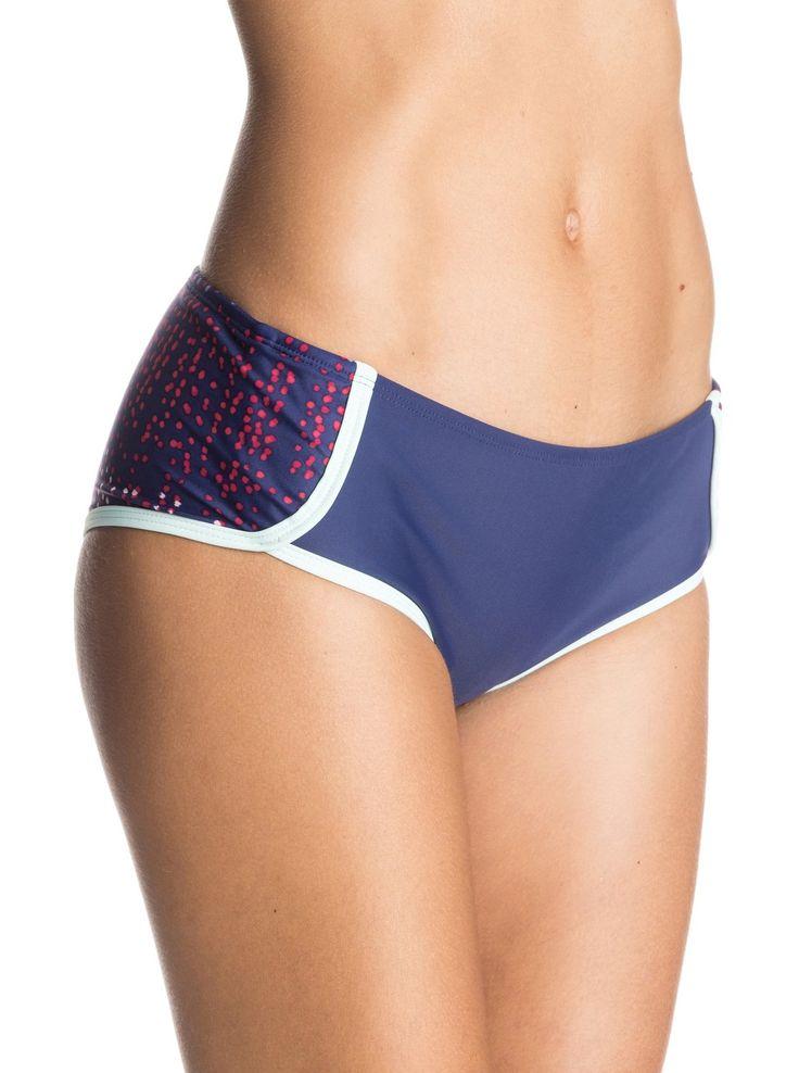 roxy, Caribbean Sunset Bikini Bottoms, BUBBLE STRIPE COMBO SAILOR BLU (bsq6)