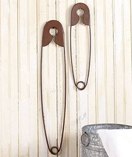 Set of 2 Large Hanging Safety Pins GetSet2Save http://smile.amazon.com/dp/B00VGF003K/ref=cm_sw_r_pi_dp_WMqjxb0QGHDSS