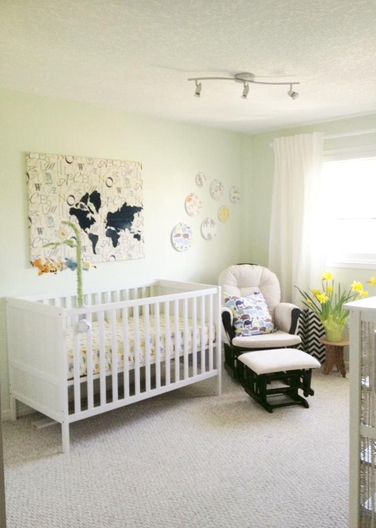 Navy and green nursery by sketchstyles.com #DIY #nursery #decor