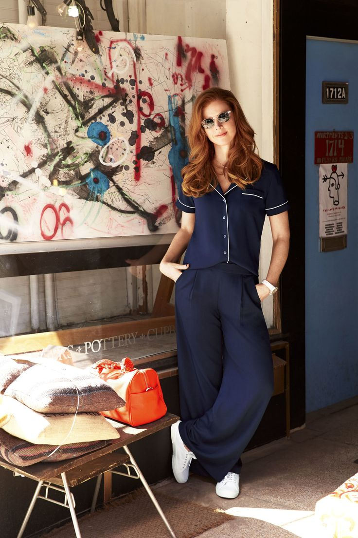 Летний наряд идей Сара Рафферти - летняя мода с костюмами Звезда Сара Рафферти