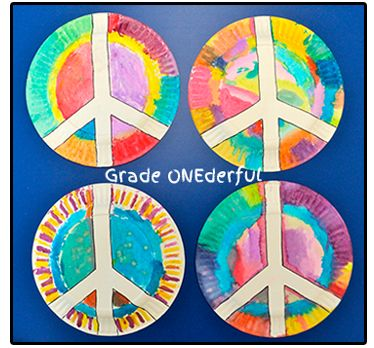 Grade ONEderful: Peace Plate Craft Remembrance Day.  For bulletin board contest?