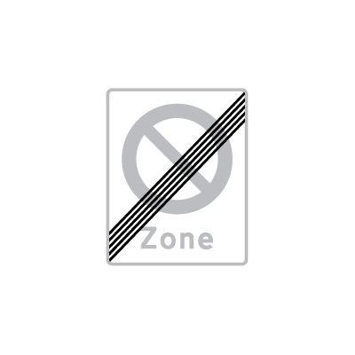 Ophør af zone med stansning forbudt E 69,2