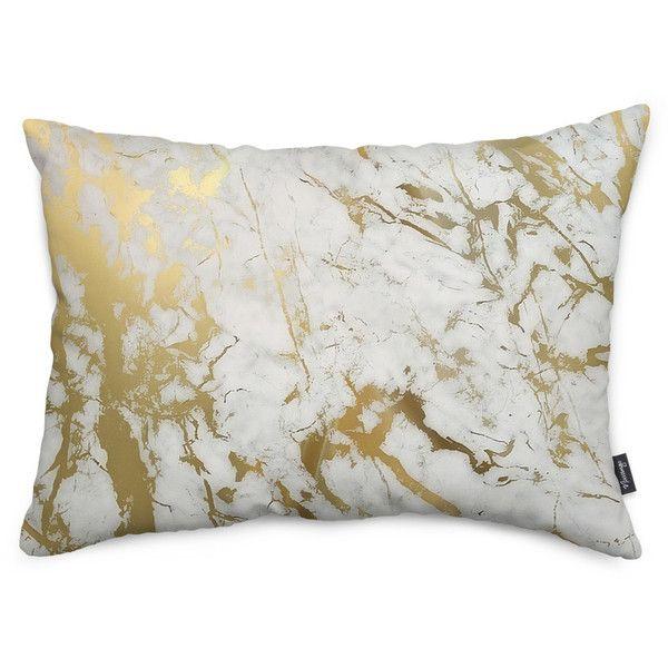 Gold Marmor Throw Pillow (49 $) ❤ wie auf Polyvore mit nach Hause, Wohnkultur, …