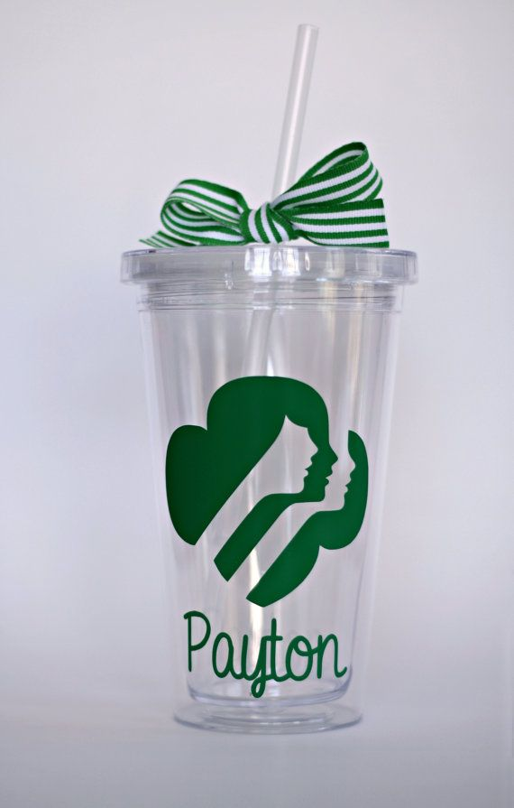 Girl Scout personalized tumbler. I sell these on my blog keepingmycents.blogspot.com