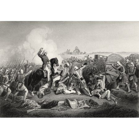 General Havelocks Attack On Nana Sahib At Futtypore 1857 Major General Henry Havelock 1795 To 1857 Britsh General From The History Of The Indian Mutiny Published 1858 Canvas Art - Ken Welsh Design Pi
