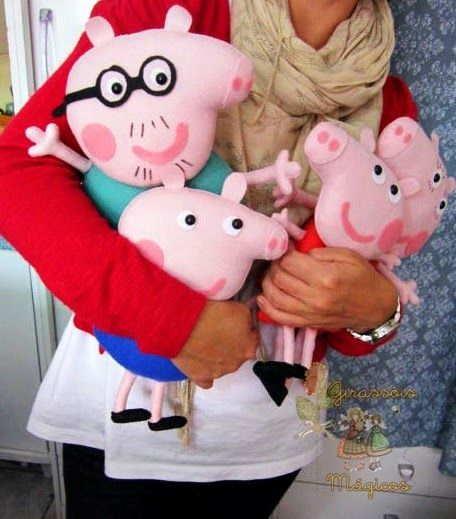 Felt Peppa Pig Family #1 (use the same pattern for all, just change the size)