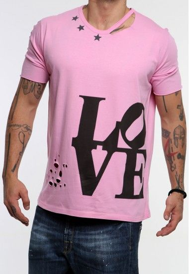 lo-ve pink  #vagrancylifestyle #handmade #top #man #rips