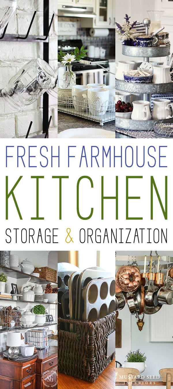 10 Fresh Farmhouse Kitchen Storage & Organization - The Cottage Market