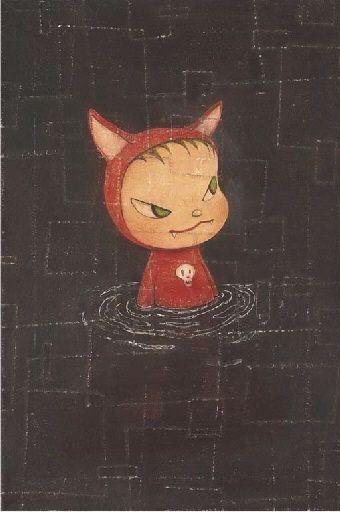 Yoshitomo Nara, Kitty in a Puddle