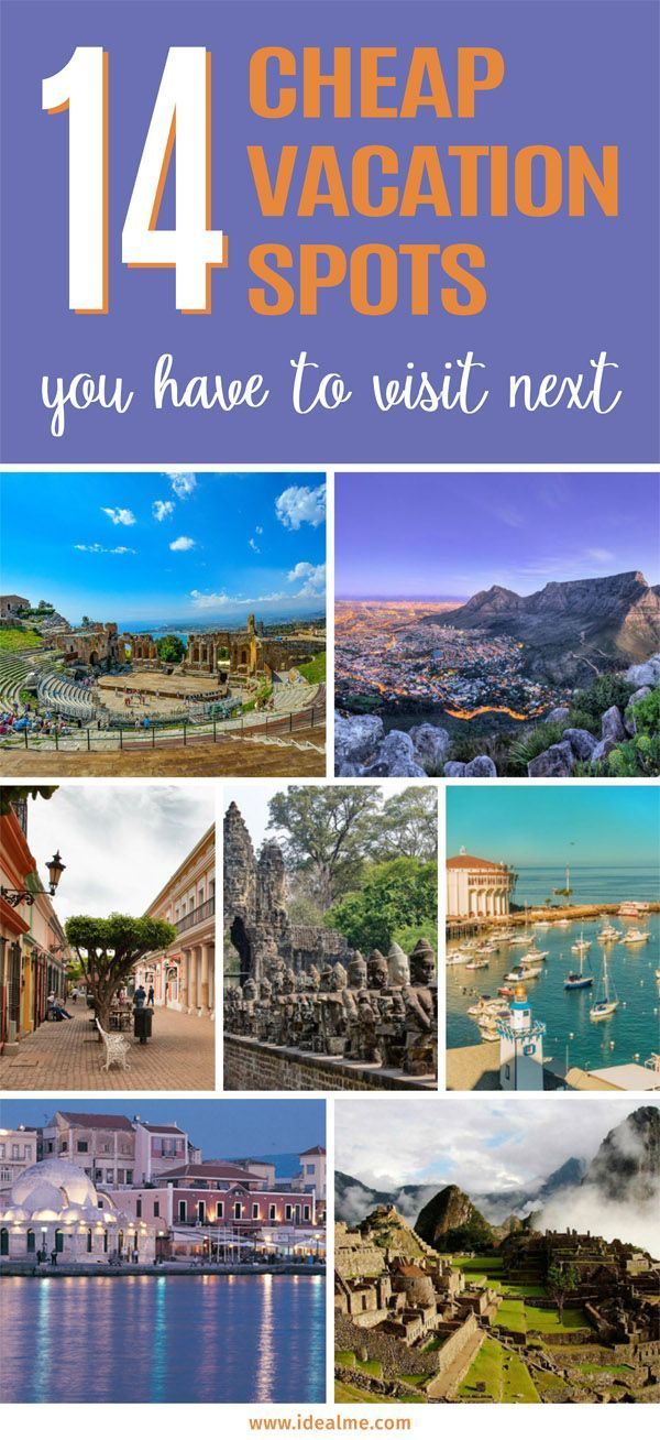 There are a whole lot of cheap vacation spots you can travel to all over the world! Check out these 14 great spots we've found. #vacationspotsworld