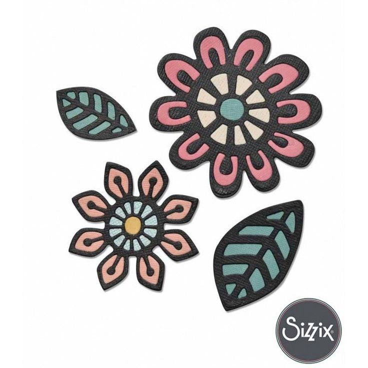 Troquel de flores de la marca sizzix, ideales para decorar proyectos de…