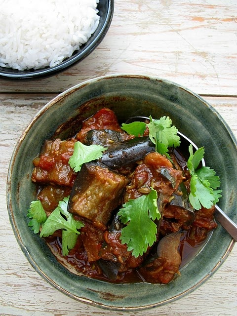 Aubergine Curry - from http://www.mydarlinglemonthyme.com