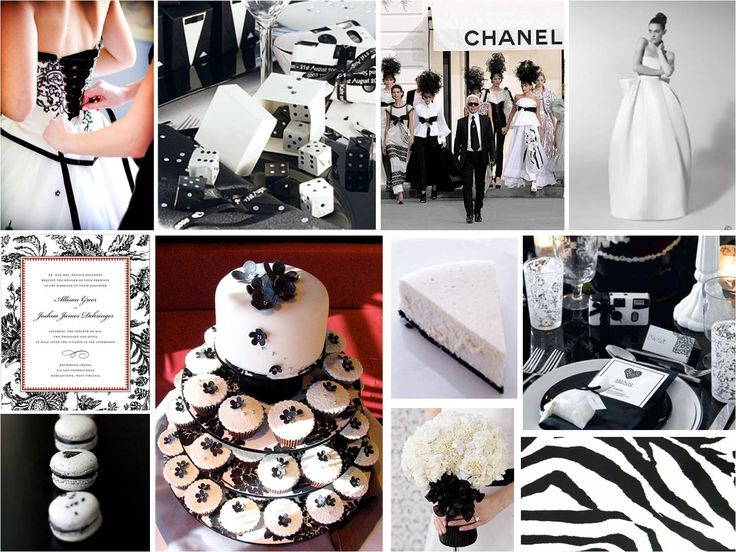 Black And White Wedding Theme Ideas Red