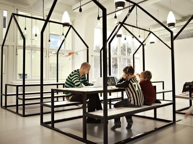 Vittra Telefonplan, em Stockholm, é uma escola sem paredes.