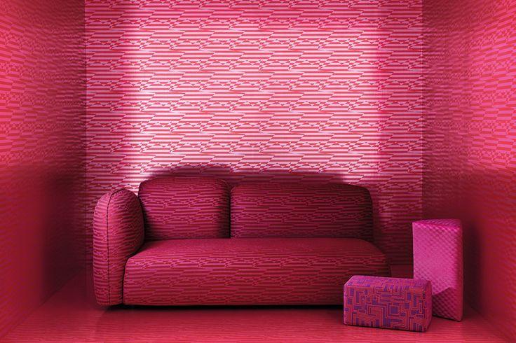 Pink Wallpaper. Eley Kishimoto. Kirkbydesign. Wirz Tapeten AG