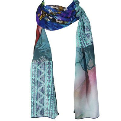 Australian Made Gifts & Souvenirs with the Colourful Handmade Scarf -by Julian Reddish. For the best Australian online shopping for a Scarves - 1