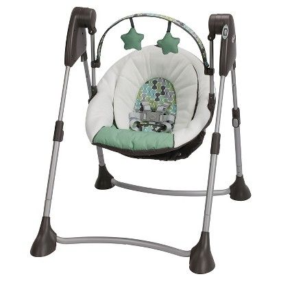 Graco Swing By Me Portable Swing Smarties Design
